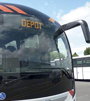 Bus au dépot