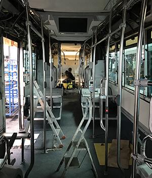 Bus réparé intérieur